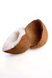 Close up of halved coconut Royalty Free Stock Images