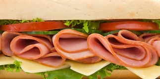Close up of a ham and cheese s Royalty Free Stock Photo