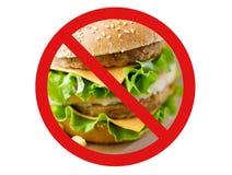 Close up of hamburger behind no symbol Royalty Free Stock Photography