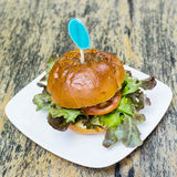 Close up hamburger food Royalty Free Stock Photo