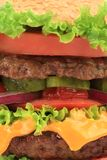 Close up of hamburger layers. Stock Photography