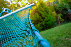 Close up of a hammock in a pastoral location Royalty Free Stock Photos