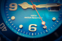 Close-up hand clock Stock Photography