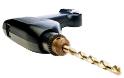 Close-up of hand drill Royalty Free Stock Images