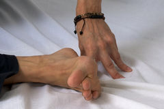 Close up of hand and foot Royalty Free Stock Photography
