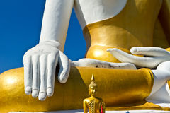 Close up hand of Golden Buddha Royalty Free Stock Image