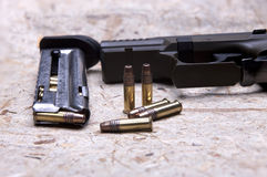Ammo and magazine. Royalty Free Stock Photo