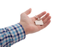 Close-up Of Hand Holding House Key Royalty Free Stock Image