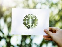 Close-up of Hand Holding Paper Royalty Free Stock Image
