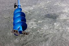 Ice auger Stock Image