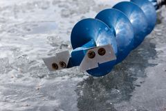 Ice auger Stock Photography