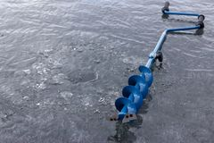 Ice auger Royalty Free Stock Photography