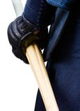 Close up of hand in kote with shinai Royalty Free Stock Photo