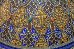 Close up of hand painted Moroccan tajine Royalty Free Stock Image