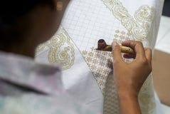 Drawing Batik Tulis stock images