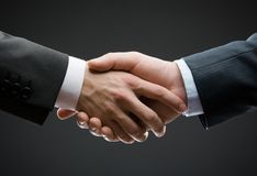 Close up of hand shake Royalty Free Stock Photo