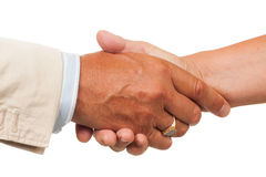 Close-up of hand shake Royalty Free Stock Photography