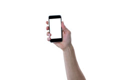 Close-up of hand showing mobile phone Royalty Free Stock Image