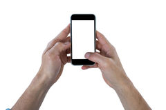Close-up of hand using mobile phone Royalty Free Stock Photo