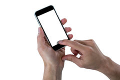 Close-up of hand using mobile phone Stock Image