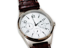 Close-up of hand watch Royalty Free Stock Photos