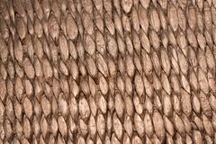 Close up handcraft weave wicker basket texture background. Royalty Free Stock Image