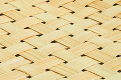 Close-up handmade bamboo weave texture background Royalty Free Stock Images