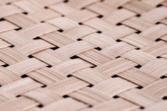Close-up handmade bamboo weave texture deep of field background Royalty Free Stock Photos