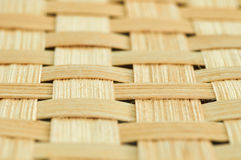 Close-up handmade bamboo weave texture deep of field background.  Royalty Free Stock Image