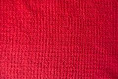 Close up of handmade crimson stockinet fabric Stock Photo