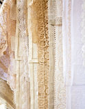 Close up Handmade Lace in Burano Stock Image