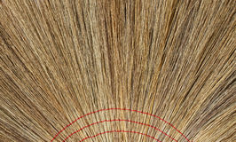 Close up of handmade nature broom Royalty Free Stock Photos