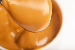 Close-up of a handmade toffee. Made from condensed milk royalty free stock photo