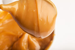 Close-up of a handmade toffee. Made from condensed milk royalty free stock photography