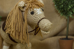 Close-Up Of Handmade Toy Horse Royalty Free Stock Photo