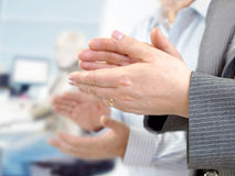 Close-up of  hands applauding Royalty Free Stock Photography