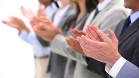 Close up of hands applauding stock footage