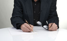 Close up of the hands of a businessman Stock Photo