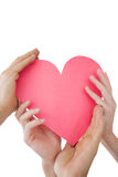 Close up of hands holding heart Stock Photography