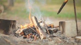 Tourist fire burns stock footage