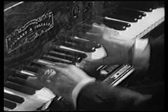Close-up of hands playing piano stock video