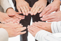 Close up of hands together Royalty Free Stock Images