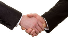 Close up of a handshake Royalty Free Stock Photography