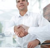 Close-up handshake of business colleagues. The concept of partnership Royalty Free Stock Photography