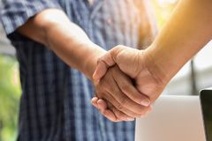 Close up of handshake. For business success concept stock images