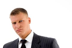 Close up of handsome businessman looking at camera Royalty Free Stock Photos
