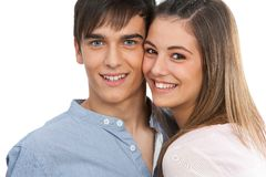 Close up of handsome happy couple. Stock Photography