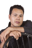 Close up on a handsome hispanic man Royalty Free Stock Photos