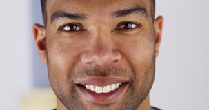 Close up of happy black man Stock Photography