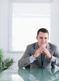 Close up of happy businessman Stock Photo
